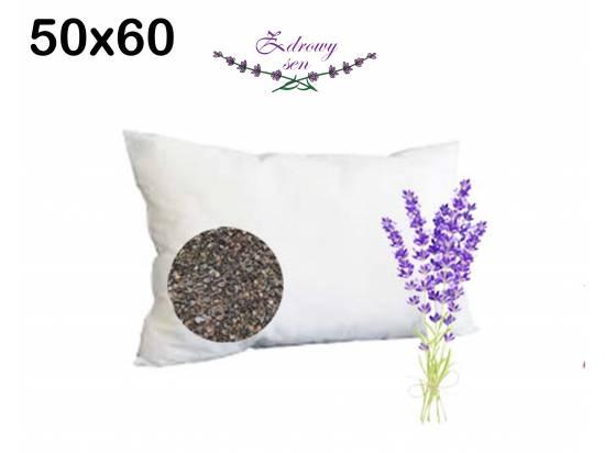 poduszka z łuską gryki i lawendą rozmiar 50x60 biała wsyp