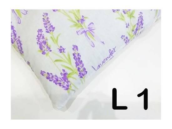 poszewka na poduszkę 40x40 cm wzory lawenda zdrowy sen