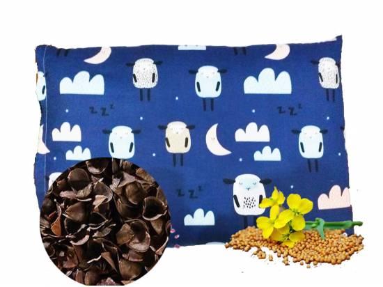 poduszka z łuską gryki i gorczycą dziecięca