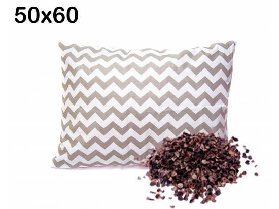 poduszka z łuską gryczana zygzak szary 50x60 antyalergiczna