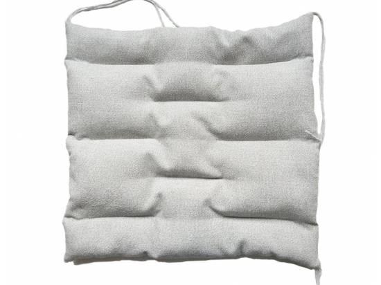 poduszka do siedzenia z łuską gryki i gorczycą z przeszyciami