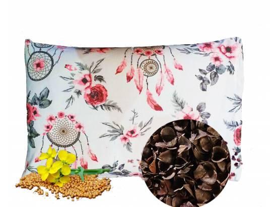 poduszka z łuska gryki i gorczycą