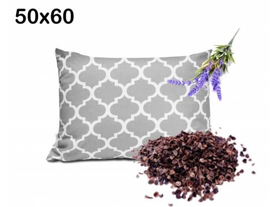 poduszka z łuską ryki i lawendą uspokajające wyciszające właściwości 50x60