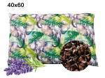 poduszka z łuska gryki i lawendą 40x60 rozmiar