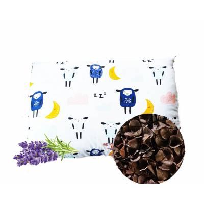 poduszka dla dziecka lecznicza z łuska gryki i lawendą