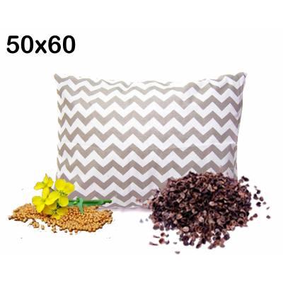 poduszka z łuska gryki i gorczycą 50x60 antyalergiczna medycyna naturalna