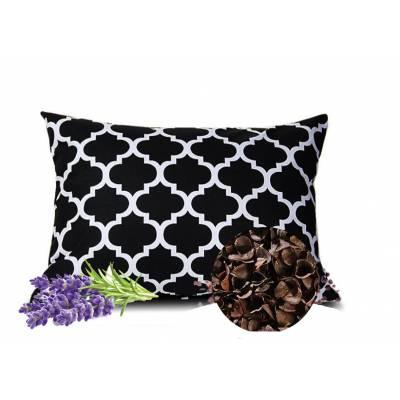 poduszka z łuską gryki i lawendą naturalna eko dla alergików