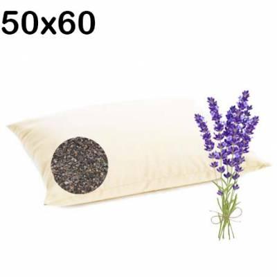 poduszka wsypa z łuską gryki i lawendą lecznicza 50x60