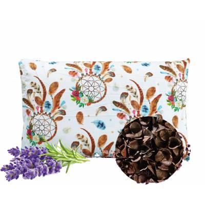 poduszka z łuską gryki lawenda
