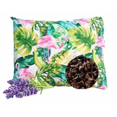 poduszka z łuską gryczaną i lawendą ekologiczna