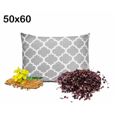 poduszka gryczana z gorczycą łuska gryki lecznicza 50x60