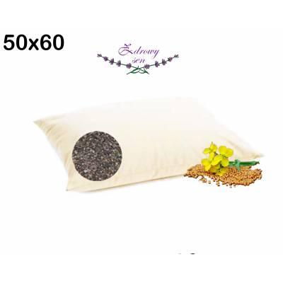 poduszka wsyp z łuską gryki gorczycowa 50x60 naturalne wypełnienie