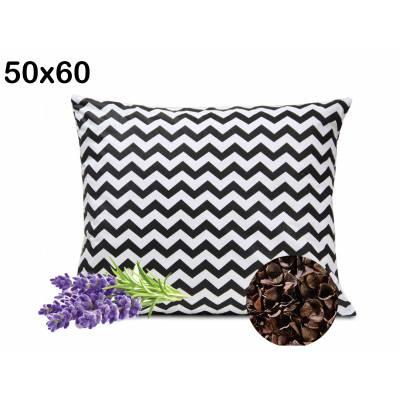 poduszka z łuską gryki i lawendą uspokajająca zdrowy sen 50x60